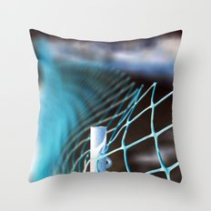 Fading blue Throw Pillow
