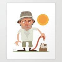 Caddyshack Carl Art Print