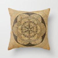 Mandala Dust Throw Pillow
