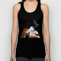 Son Goku - Digital Watercolor Painting Unisex Tank Top