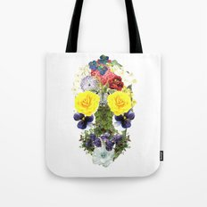 Skull Flowers Tote Bag