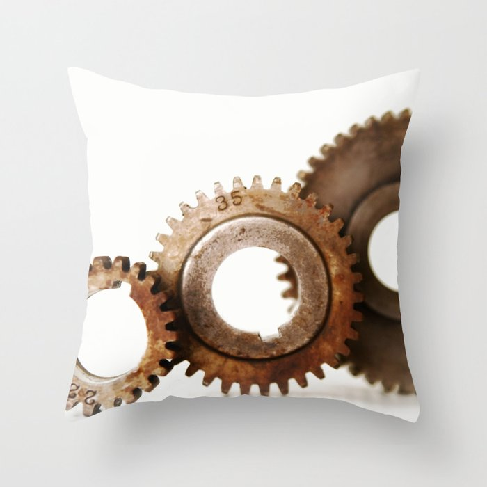 Vintage Industrial Gears, Steampunk - #5 Throw Pillow by HMLessey  Society6