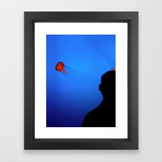 Think Jellyfish Framed Art Print