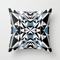 Abstract Kite Black And … Throw Pillow