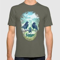 Nature's Skull (Green) Mens Fitted Tee Lieutenant SMALL