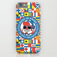iPhone & iPod Case featuring Right or wrong, I'm still the captain by Jacopo Rosati