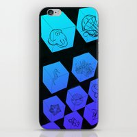 Sea Creature Cubes iPhone & iPod Skin