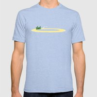 Long Journey Mens Fitted Tee Tri-Blue SMALL