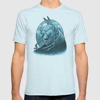 Preservation Mens Fitted Tee Light Blue SMALL