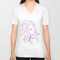 Purple Portrait Unisex V-Neck
