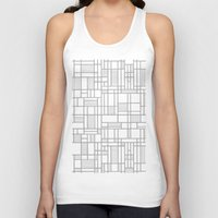 Map Lines Silver Unisex Tank Top