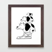 cow baby Framed Art Print