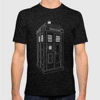 Doctor Who Tardis Mens Fitted Tee Tri-Black SMALL