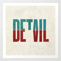 Devil in the detail. Art Print