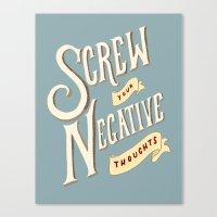 No Negativity Allowed! Canvas Print