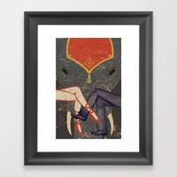 Circus Romance Framed Art Print