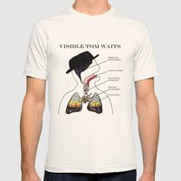 VISIBLE TOM WAITS Mens Fitted Tee Natural SMALL
