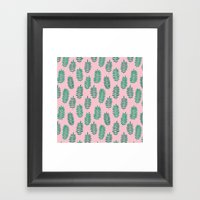 Pattern Project #42 / Ferns Framed Art Print