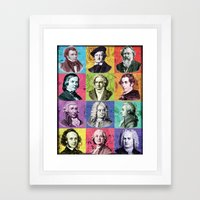 Composers Compilation Framed Art Print