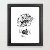 Show Your Teeth Framed Art Print