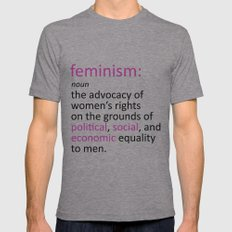 Feminism Defined Mens Fitted Tee Athletic Grey SMALL