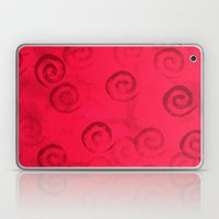 Festive Red Spirals Laptop & iPad Skin
