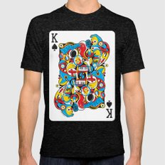King Of Spades Mens Fitted Tee Tri-Black SMALL