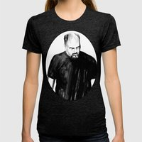 DARK COMEDIANS: Louis C.… Womens Fitted Tee Tri-Black SMALL