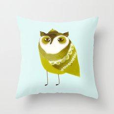 Golden Owl illustration  Throw Pillow