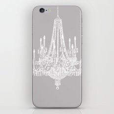 Chic White and Gray Chandelier   iPhone & iPod Skin