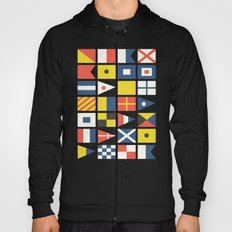 Geometric Nautical flag and pennant Hoody