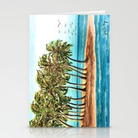 Private Island Painting Stationery Cards