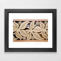 Bronze Art Deco Leaves Framed Art Print