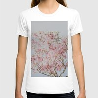 Pink Magnolias Womens Fitted Tee White SMALL