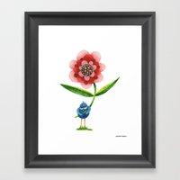 Red Wonder Flower Framed Art Print