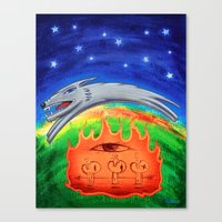 Dogfire Canvas Print