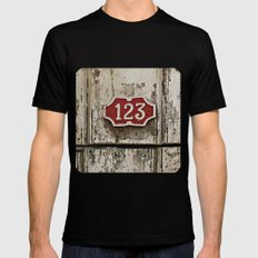 Address Plaque  Mens Fitted Tee Black SMALL