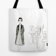 cafe girl Tote Bag