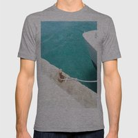 Boat Green Mens Fitted Tee Athletic Grey SMALL