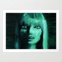 THE GREEN QUICK PORTRAIT Art Print