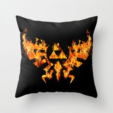 Zelda In Fire Throw Pillow