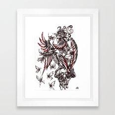Butterfly's diet Framed Art Print
