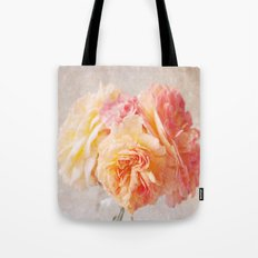 Textured Pastel Rose Tote Bag