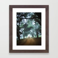 There goes Alice Framed Art Print