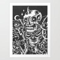 Skullhunter Overlord Art Print