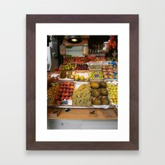 spanish produce  Framed Art Print