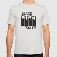 Black Sheep Mens Fitted Tee Silver SMALL