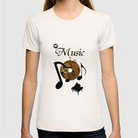 His Master's voice Womens Fitted Tee Natural SMALL