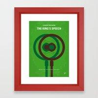 No587 My The Kings Speec… Framed Art Print