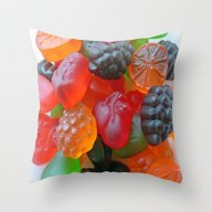 Gummy Fruit Throw Pillow